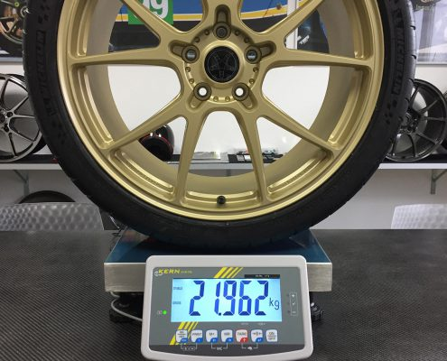Leitspeed-Wheels_LSL01 Champagne Gold Frosted Weight with Michelin Pilot Cup2 285/30/20 Lotus Evora 410