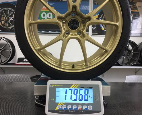 Leitspeed-Wheels_LSL01 Champagne Gold Frosted Weight with Michelin Pilot Cup2 235/35/19 Lotus Evora 410